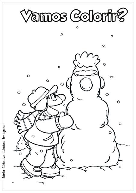 Vila Sésamo Natal desenho para colorir
