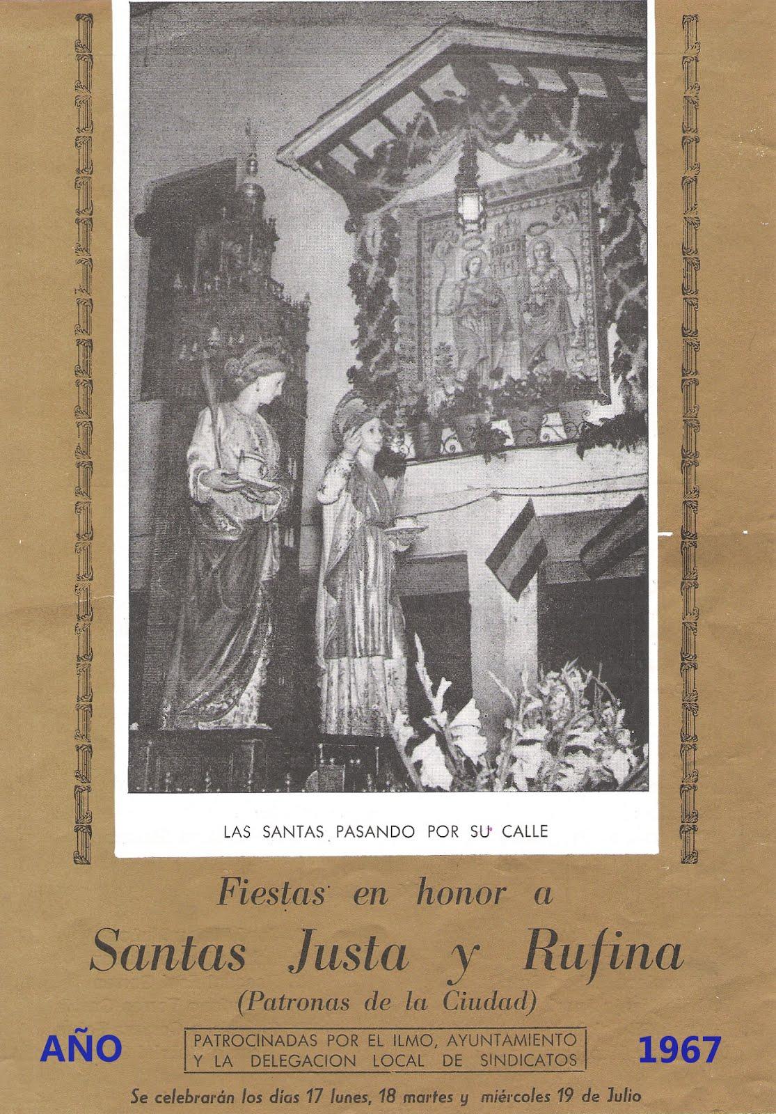 19.07.17 FESTA A LES SANTES ESCUDELLERES, SANTES JUSTA I RUFINA, FESTA DE L'ANY 1967