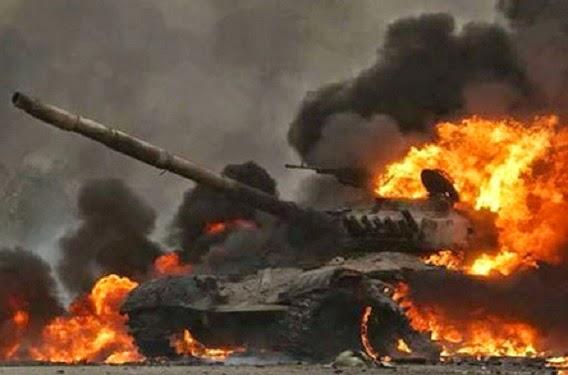 Tank Israel meledak (alqassam.ps)