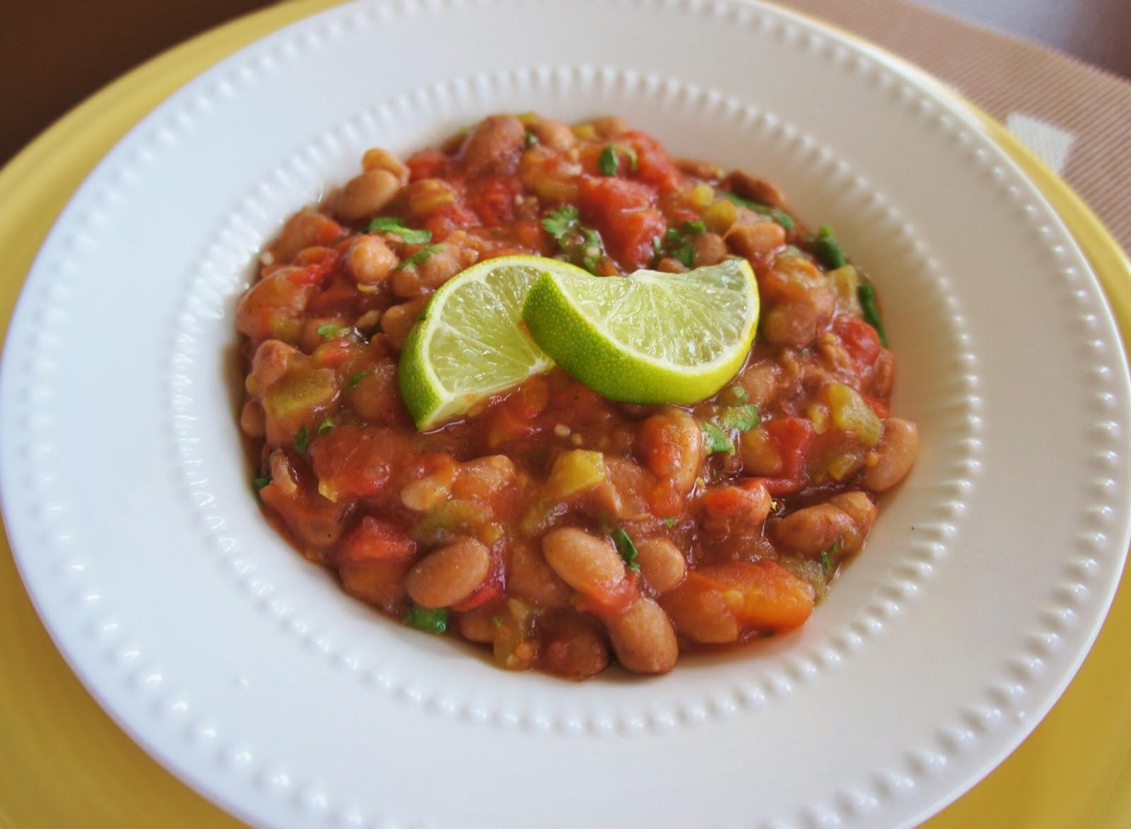 Recipe for slow cooker vegan fiesta baked beans 365 for Healthy crock pot recipes vegetarian
