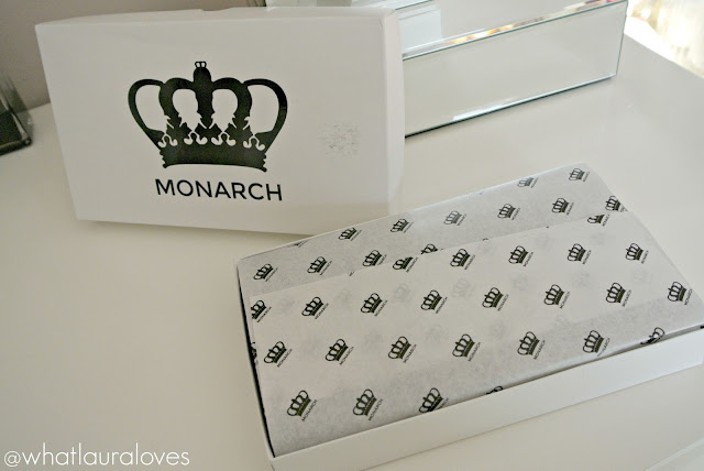 Monarch Leather Accordion Clutch Wallet showing the packaging of how it arrives