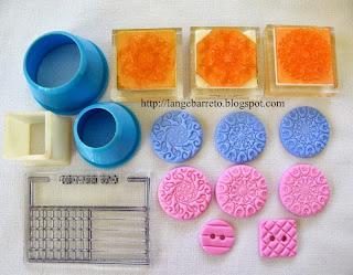 Tutorial Embellishment porcelana fria com carimbo