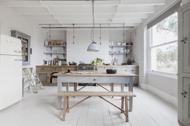 muebles recuperados en la cocina
