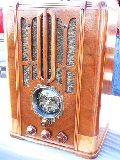Rose Bowl flea market vintage radio by Lady by Choice