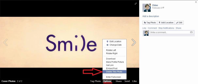 how to quickly delete facebook photos