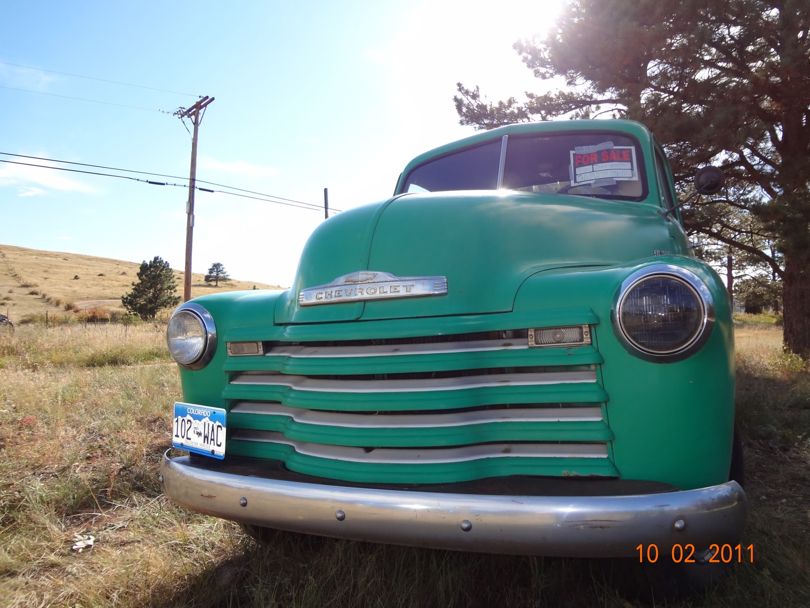Colorado Cowgirl Classic Cars: 1950 Chevy 3800 for sale on Guy Hill