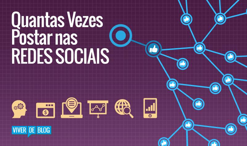 Frequencia de postagens em redes sociais