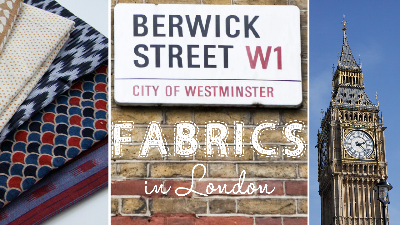 Stoffläden in London - Berwick Street