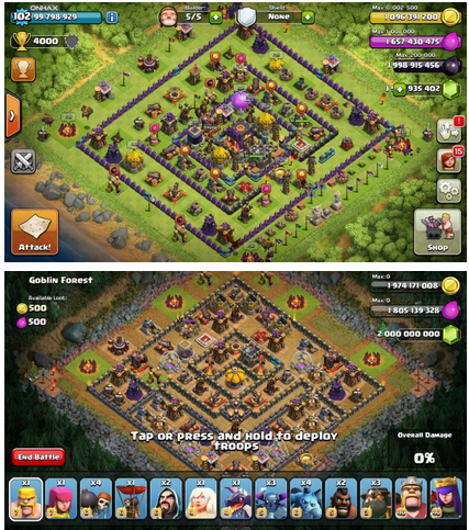 Clash of Clans Unlimited Mod/Hack v7.65 APK 3 Servers