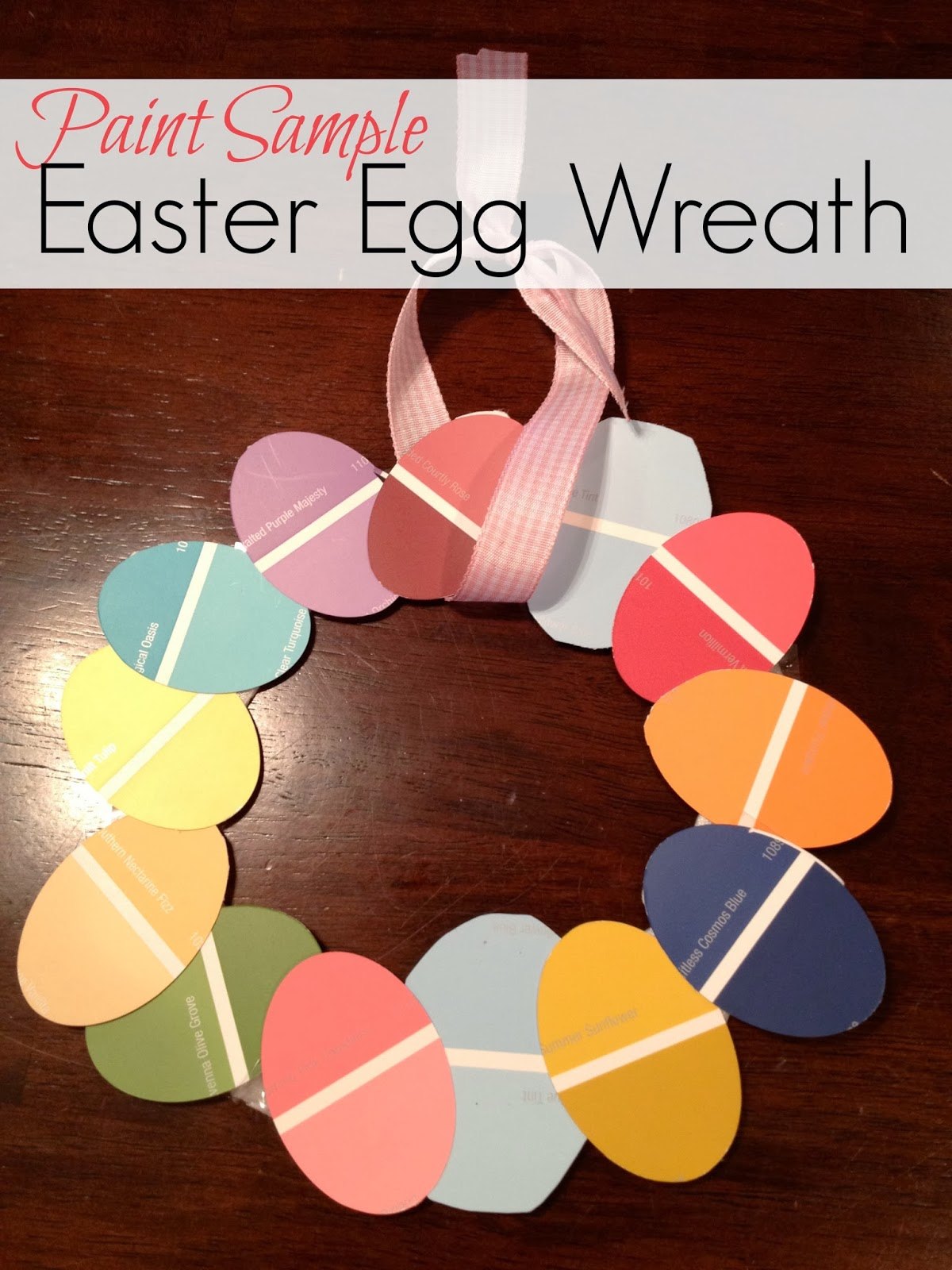 Two it yourself paint sample easter egg wreath kid friendly paint sample easter egg wreath kid friendly solutioingenieria Choice Image