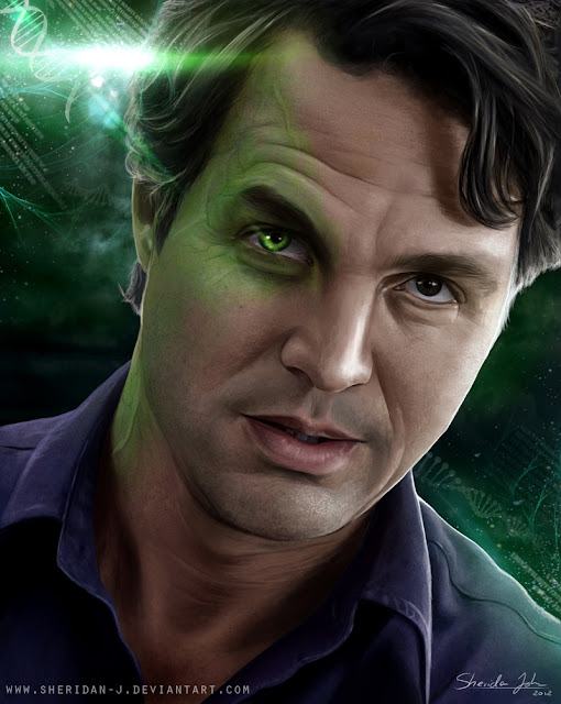 The Avengers Poster Challenge wallpaper Paintings of Sheridan Johns | The Hulk | Mark Ruffalo as Dr. Bruce Banner Hulk |Totally Cool Pix | big picture | totallycoolpix | The Avengers wallpaper | 3d movie painting | painting wallpaper | Sheridan Johns painting | realistic painting | water color painting | water colour painting