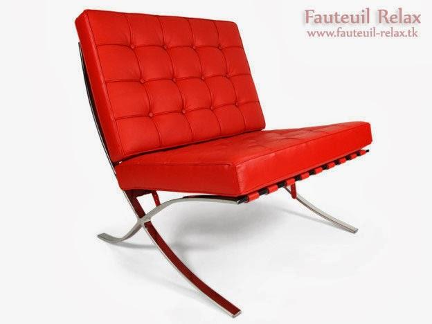 Fauteuil barcelona rouge fauteuil relax - Fauteuil barcelona copie ...