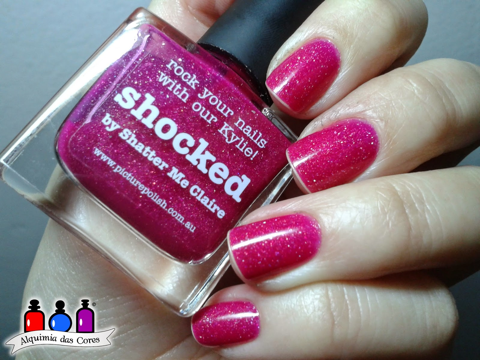 Picture Polish, rosa, Glitter, Shocked, esmalte importado, esmalte, nail polish