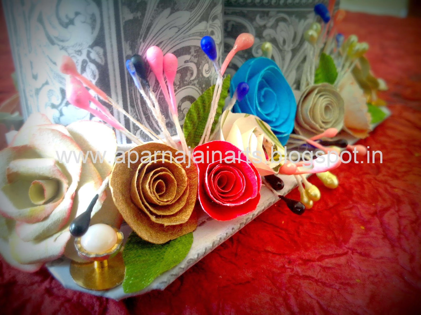 The Crafty World Pankh Arts Pen Holder From Toilet Paper Rolls
