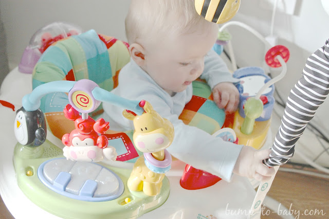 fisher price jumperoo, 7 month old baby