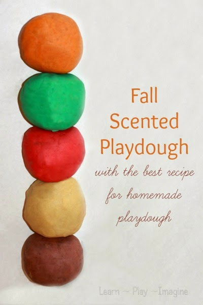 Fall Scented Playdough Recipes #playdough #preschool #sensory #fall