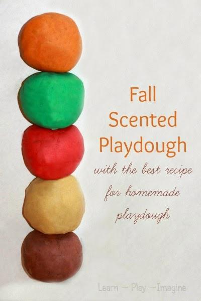 Fall Scented Playdough Recipes #playdough #preschool #sensory #fall