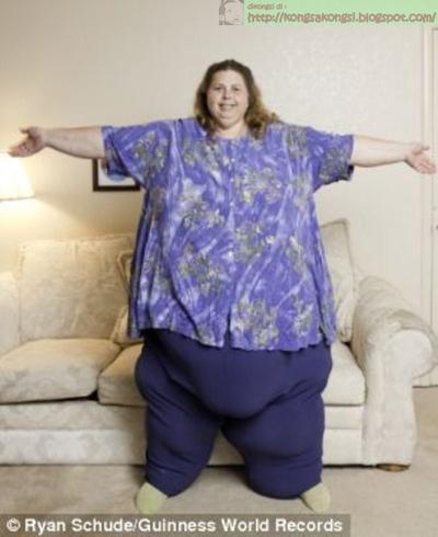 wanita paling berat di dunia