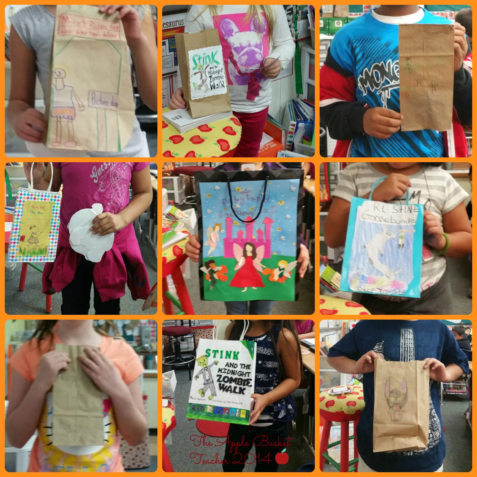 book report in a bag first grade