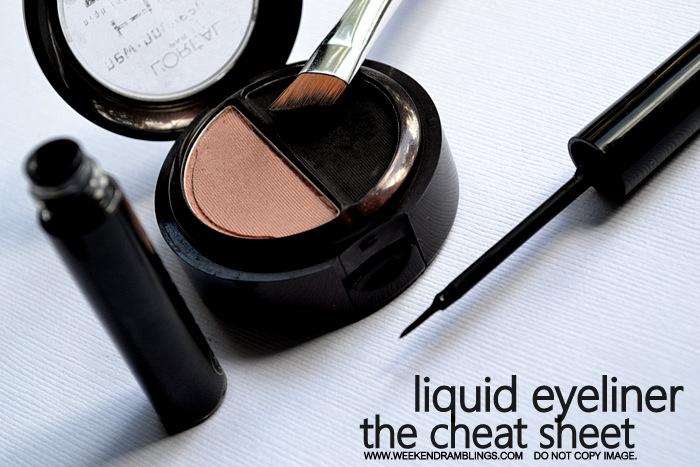 Makeup Basics How to Apply Liquid Eyeliners Easy Steps Indian Beauty Blog FOTD Looks