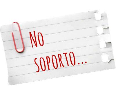 No soporto