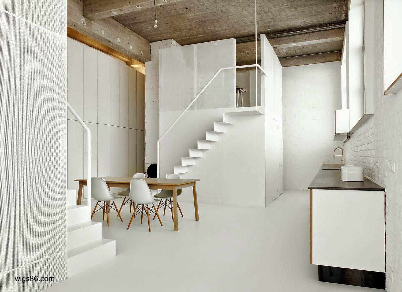 Arquitectura de casas 15 escaleras contempor neas blancas - Casas de madera blancas ...