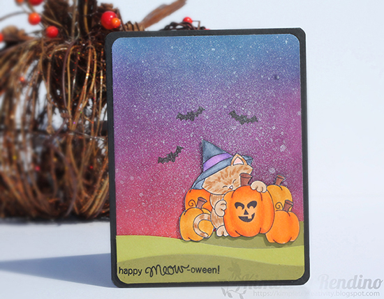 Cat Halloween Card by Kimberly Rendino for Newton's Nook Designs | Newton's Perfect Pumpkin Stamp Set