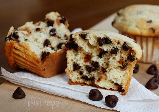 Ricotta Cheese Chocolate Chip Muffins Recipe — Dishmaps