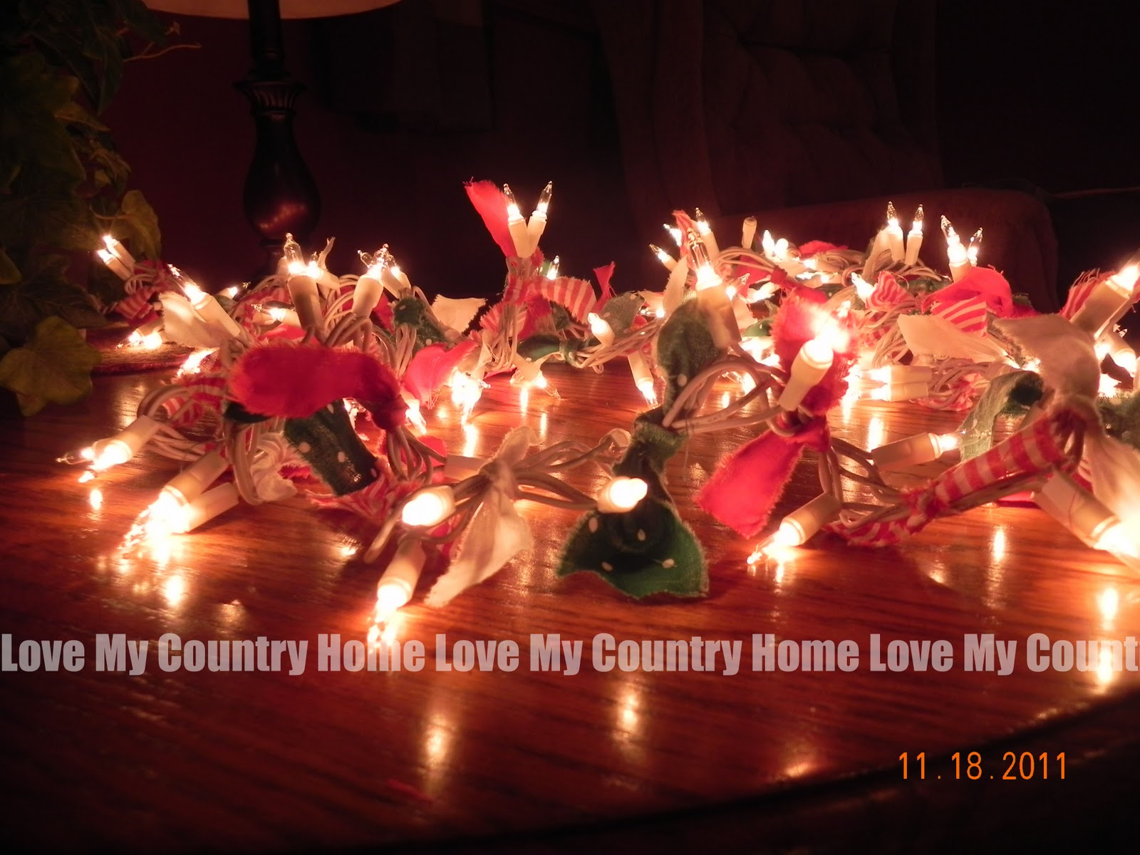 Christmas light garland project for your home office or to give as a