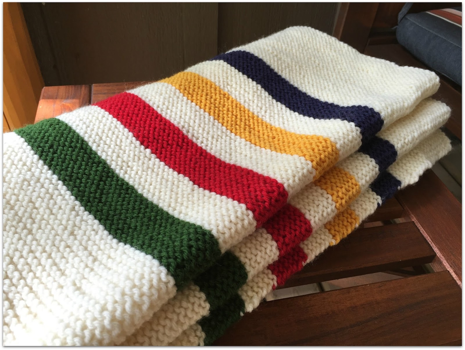 Knitting Pattern For Hudson Bay Blanket : North of 49: About the Blanket