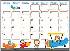 Calendar 2017 Printables