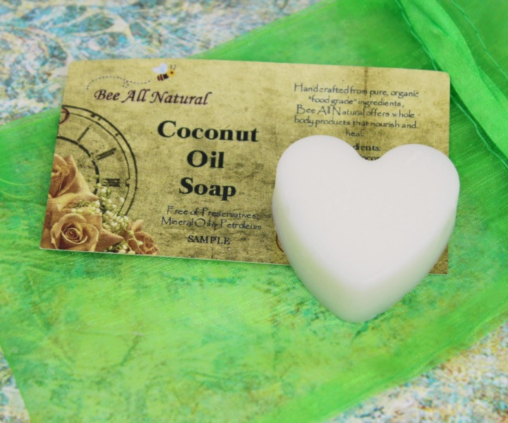 Bee All Natural Coconut Oil Soap heart-shaped