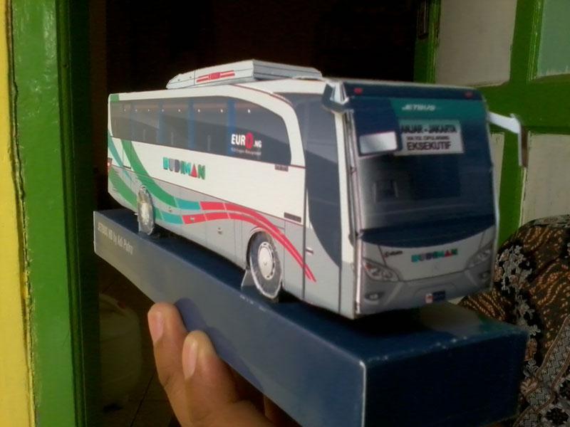 paper model bus jetbus budiman