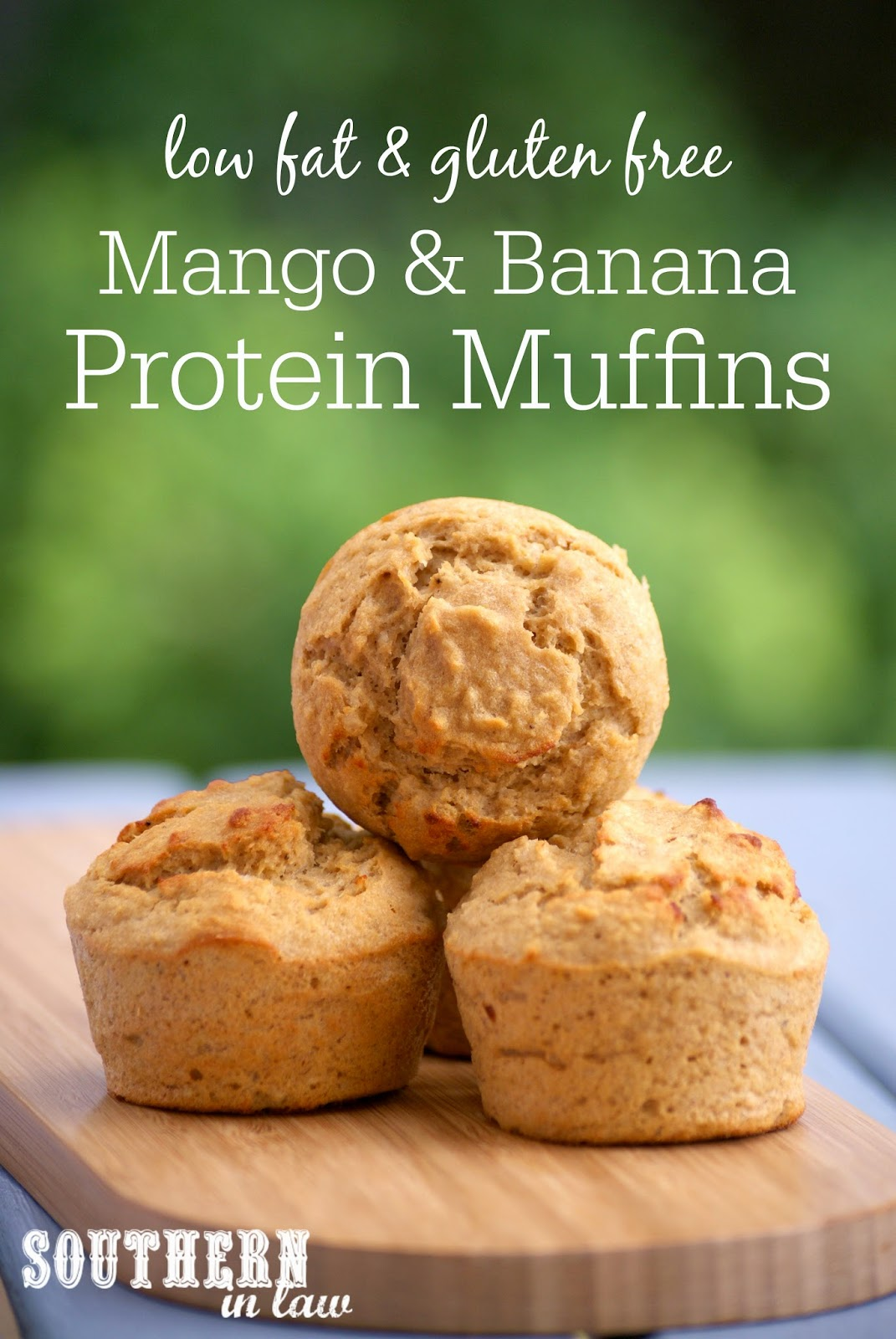 Gluten Free Mango Banana Protein Muffins - low fat, gluten free, high protein, low calorie, sugar free, clean eating recipes