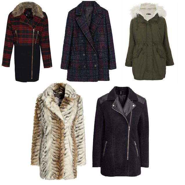 topshop zara next boohoo h&m coats and jackets