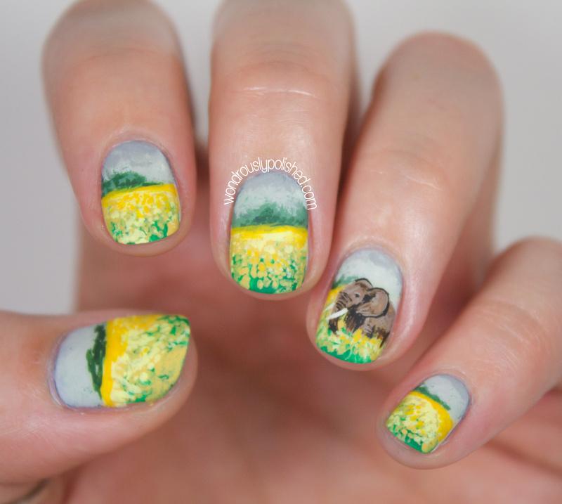 Wondrously Polished 31 Day Nail Art Challenge: Wondrously Polished: 31 Day Challenge, Day 10