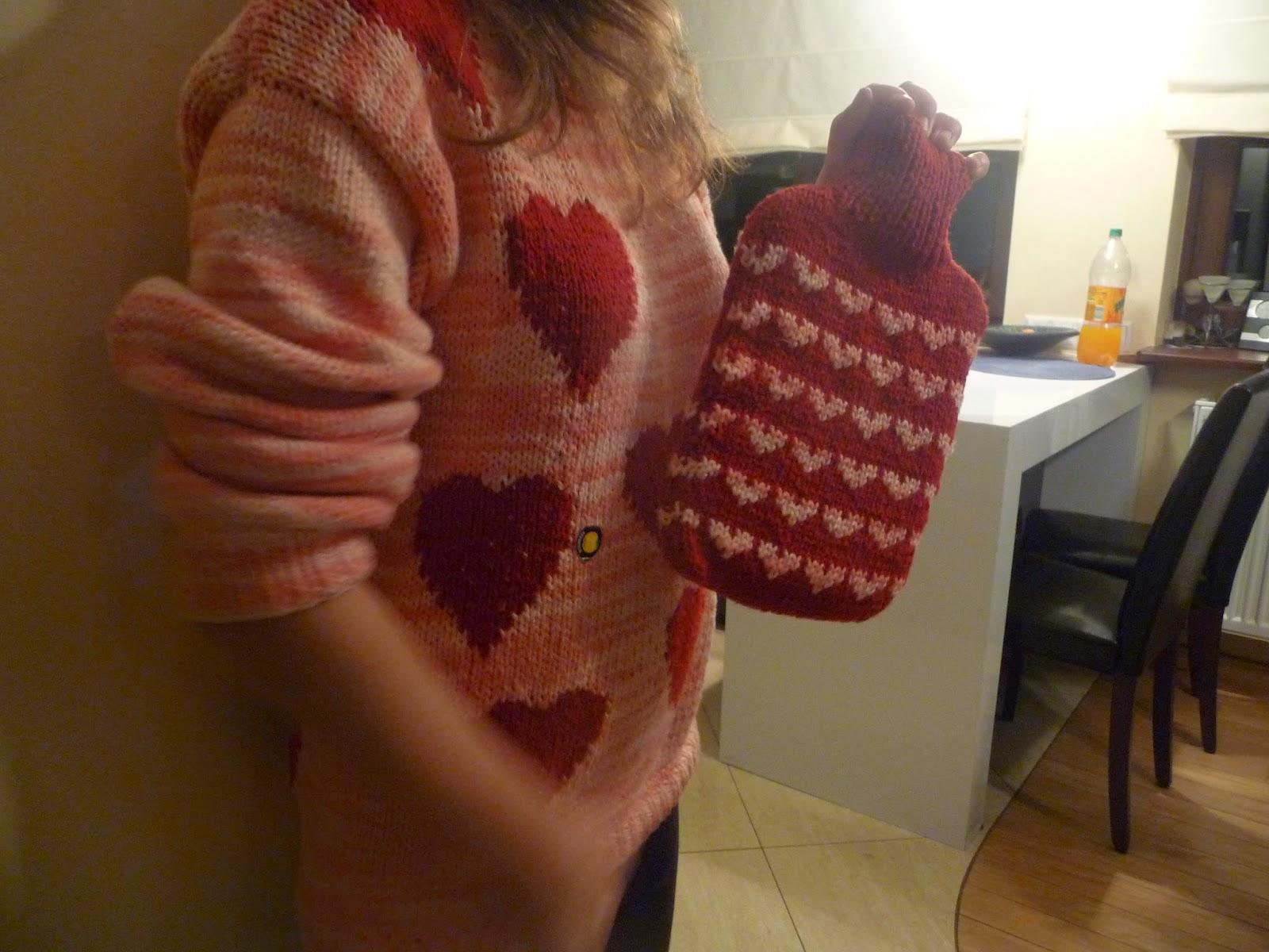 sweter w serca