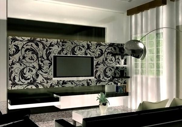 wallpaper dinding ruang tv / keluarga