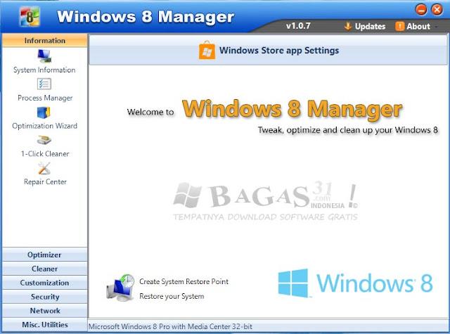 Windows 8 Manager v1.0.7 Full Keygen 2