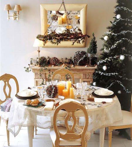 Коледна декорация на маса и елха