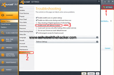 disable avast self defense module