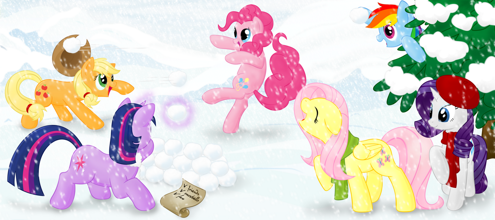 95585+-+applejack+artist+stardustxiii+fluttershy+pinkie_pie+rainbow_dash+rarity+snow+snowball+twilight_sparkle+winter.png