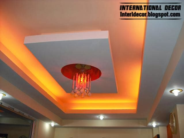 False ceiling pop designs with led ceiling lighting ideas for Pop design for kitchen