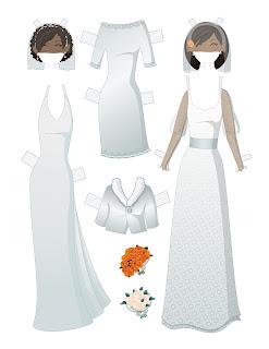 Wedding Paper Doll