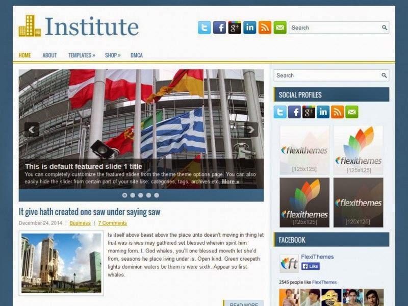 Institute - Free Wordpress Theme