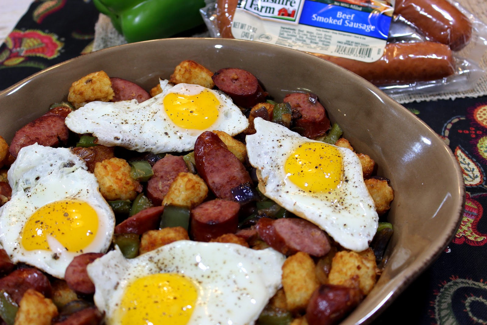 Smoke Sausage and Tater Tot Casserole Recipe