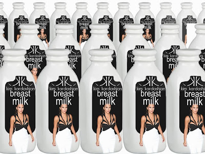 Kim Kardashian breast milk lactating funny
