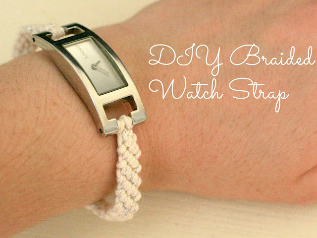 diy braided watch strap