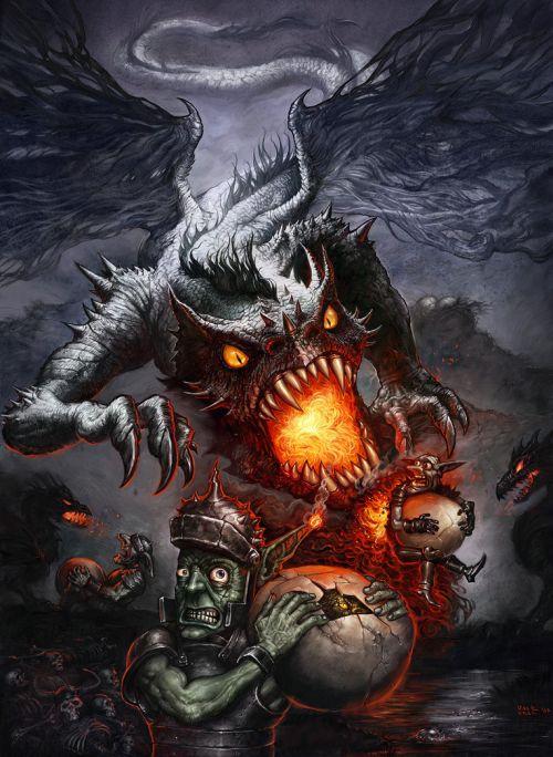 Halil Ural mrdream deviantart ilustrações fantasia arte conceitual Ovos de monstro