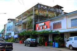 Gebäude in Pakse, Champasak